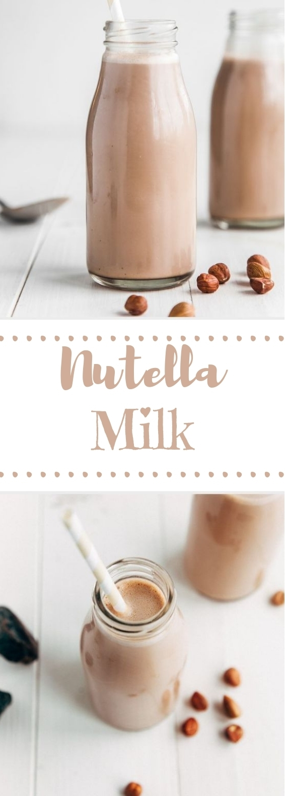 Raw Nutella Milk #milk #drinks