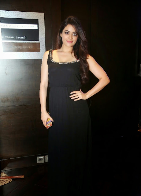 Shruti Sodhi Looks Irresistibly Sexy In a Black Low Neck Top At Telugu Film 'Player' Trailer Launch