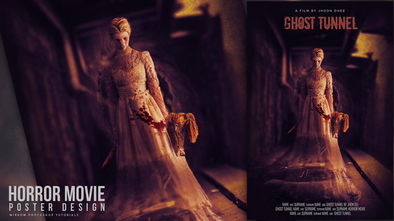 Create a Ghost Tunnel Horror Movie Poster Photoshop Tutorial
