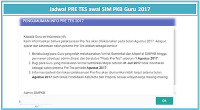 Jadwal PRE TES awal SIM PKB Guru 2017