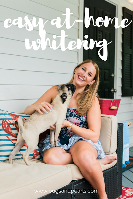 Easy At-Home Teeth Whitening with Smile Brilliant! https://www.smilebrilliant.com/#pugsandpearls