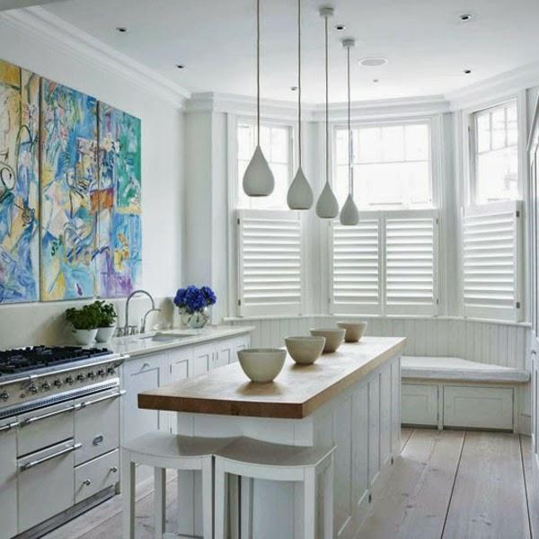 10 fotos de cocinas blancas colores en casa for Cocinas en color blanco