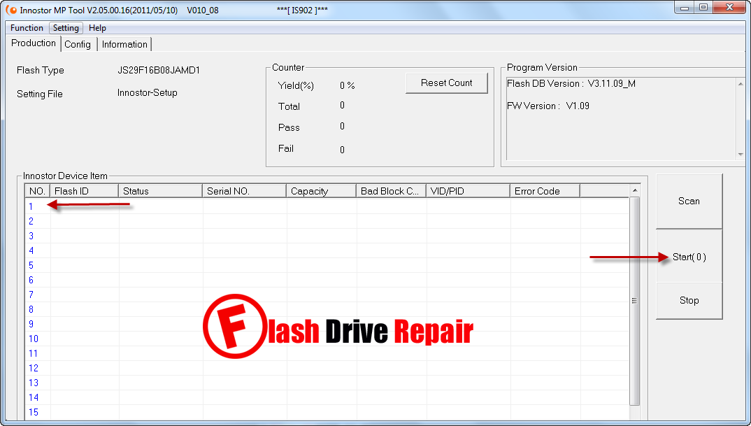 Innostor IS902 MP V2 05 firmware update tool - Flash Drive