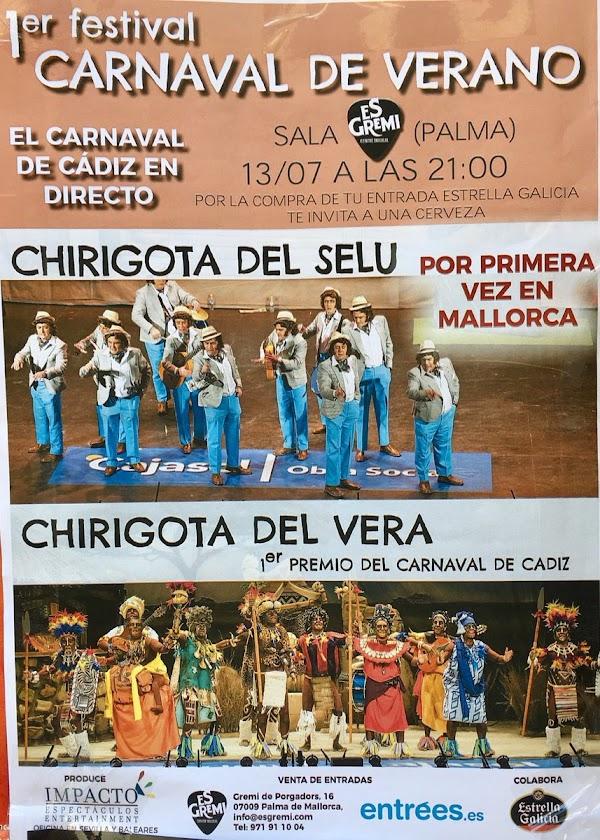 Por fin el Carnaval de Cádiz en Mallorca