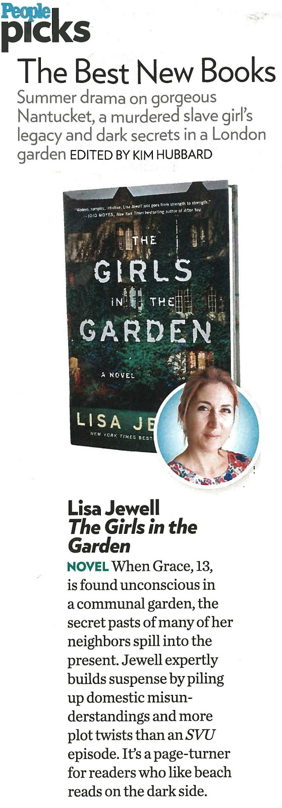 lisa jewell author of the girls in the garden on tour