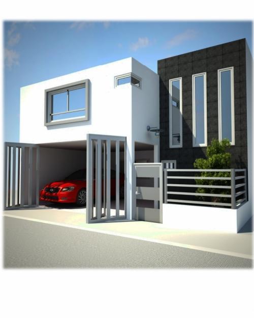Fachadas de casas modernas diciembre 2011 for Fachadas para casas minimalistas