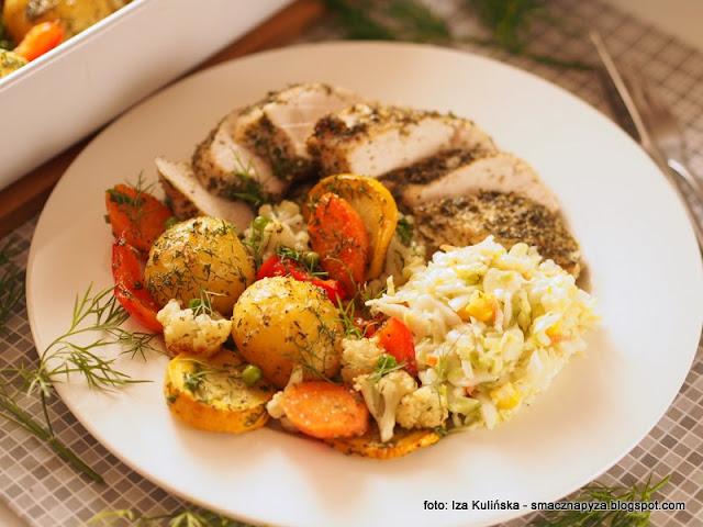 kurczak ziolowy, piersi w ziolach, piersi pieczone, filety z piersi kurczaka, pieczone warzywa, dietetyczne danie, dietetyczny obiad, domowy obiad, obiad z piekarnika,