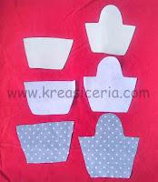 Bentuk pola tempat sisir dari kain perca
