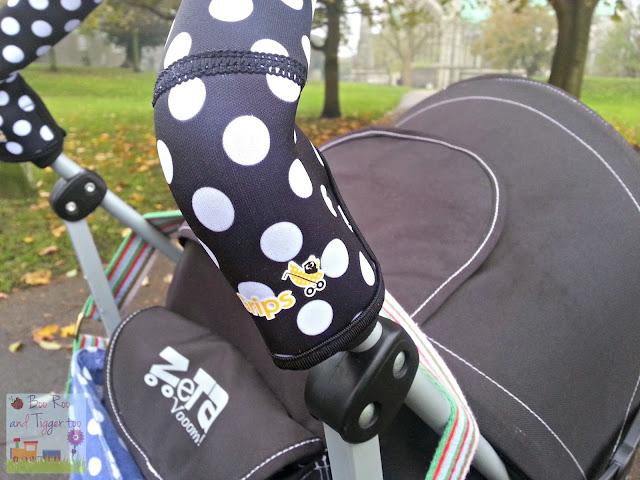 CityGrips Stroller Handlebar Grip Covers Polka Dot Black