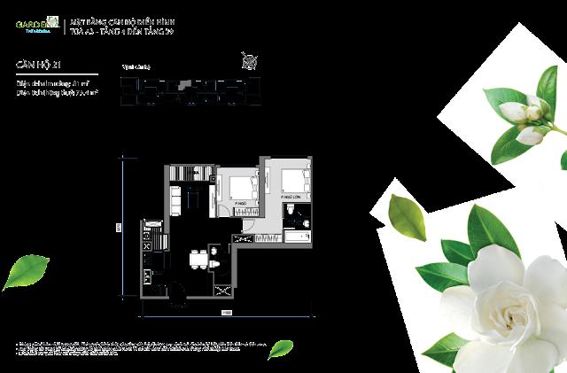 căn 21 từ tầng 4 đến tầng 39 tòa A3 The Arcadia Vinhomes Gardenia