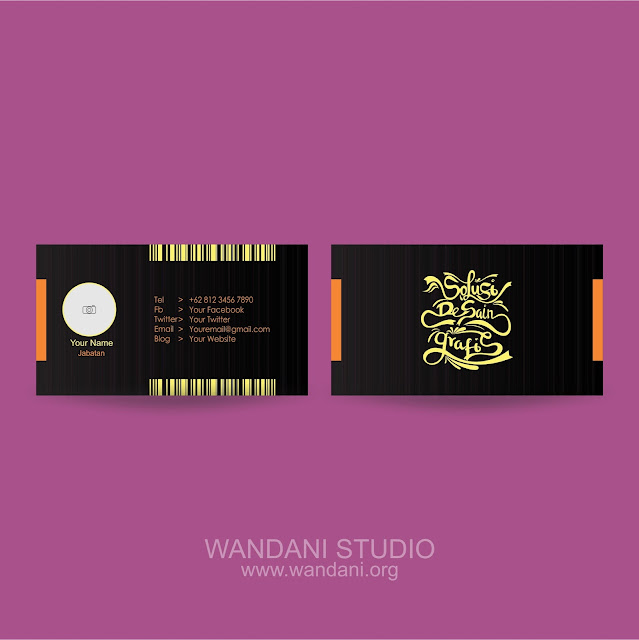 Business Card Design Black and Orange