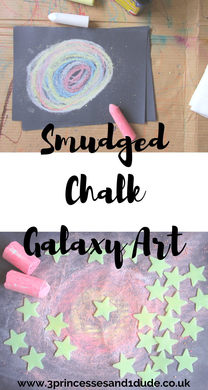 Smudged chalk makes a really cool galaxy effect. Why not give it a try.