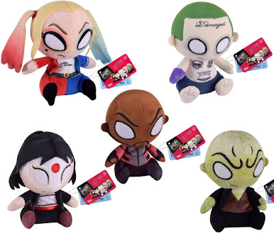 Suicide Squad Mopeez Plush Series by Funko – Harley Quinn, The Joker, Deadshot, Katana & Killer Croc