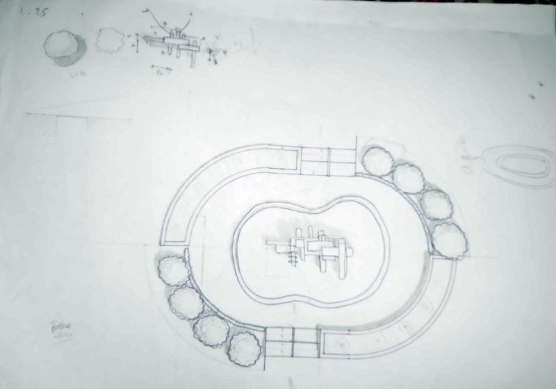 Catatan Tangan: Rancangan Site Plan Taman