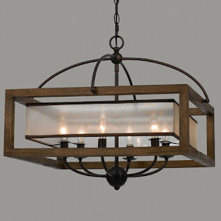 New Home Lighting Options-Rustic-Modern Farmhouse-Dining Room-Chandelier-From My Front Porch To Yours