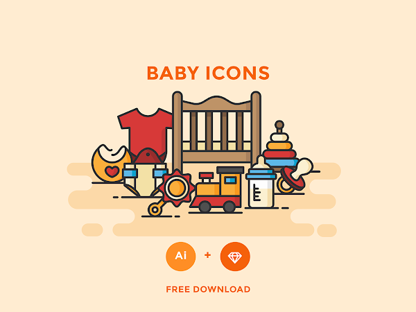 Download Baby Icons Vector Sketch Free