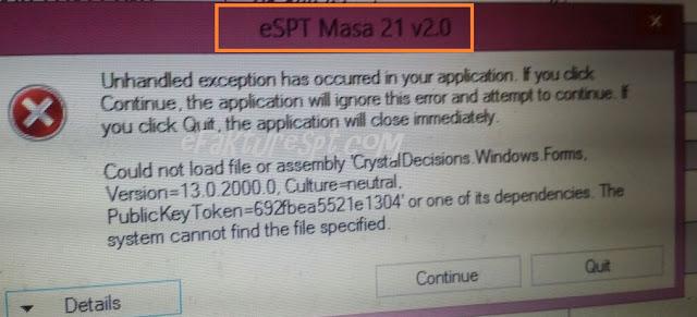 eSPT PPh 21 error tidak dapat cetak induk dan tidak bisa diprint