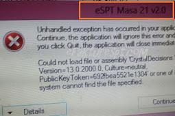 Error eSPT PPh 21 Tidak Bisa Cetak dan Tidak Bisa Diprint