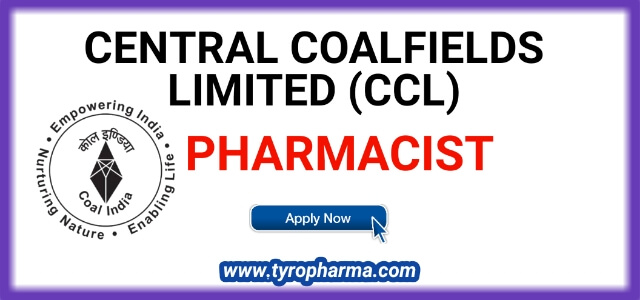 Pharmacist Recruitment at CCL - Central Coalfields Limited Pharmacist 08 posts