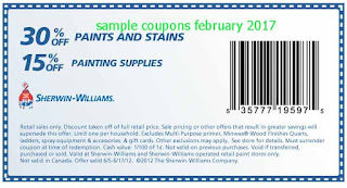 free Sherwin Williams coupons february 2017