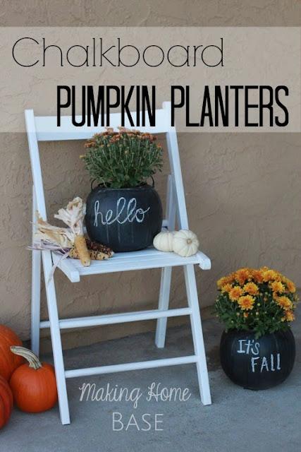 chalkboard pumpkin planters%5B1%5D 5 Chalkboard Ideas for Fall! 20