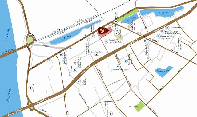 Vị trí dự án chung cư One18 Ngọc Lâm Long Biên