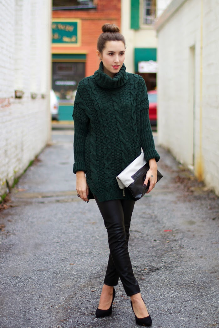 cable-knit-sweater-leather-pants-outfit