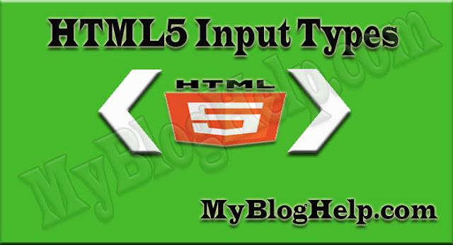 HTML5 input type