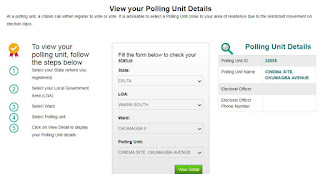 inec polling units status check online