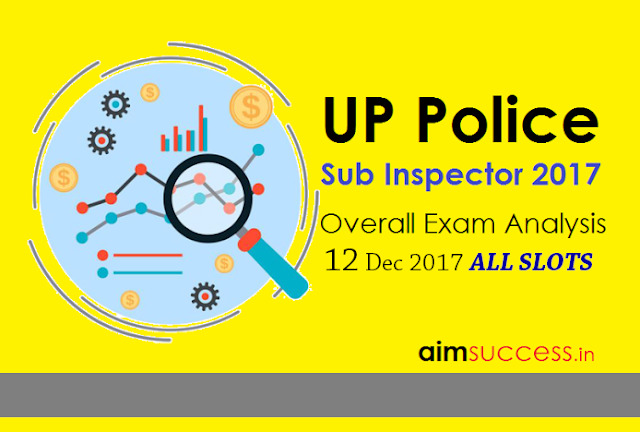 UP Police SI Exam Analysis 2017 12th Dec 2017