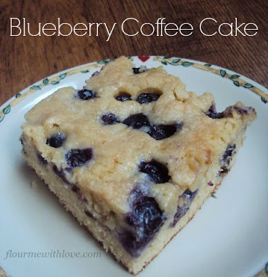 Blueberry Coffee Cake; flourmewithlove.com