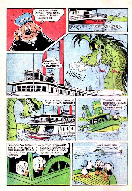 Donald Duck Four Color Comics #108 - Carl Barks 1940s dell comic book page art