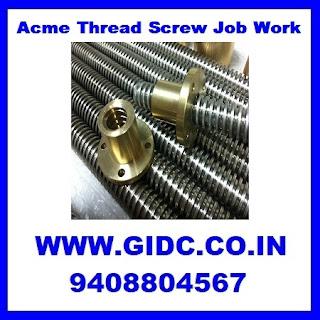 Acme Thread Screw Job Work