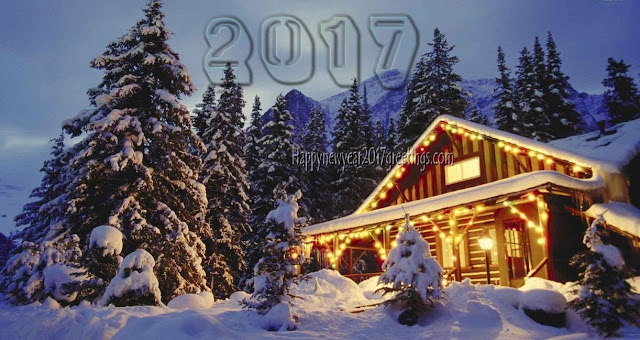 Happy New Year 2017 Ice Falling Desktop Background Scenery Download Free