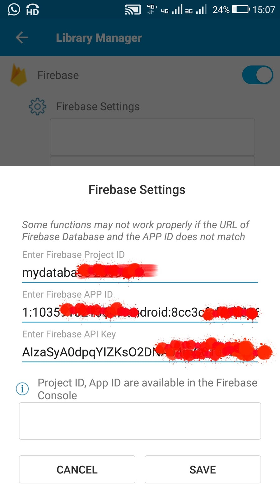 Firebase auth in Sketchware for Login Activity