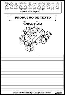 Produção de texto presentes natal