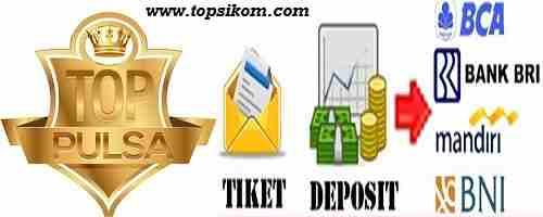 bank deposit server pulsa
