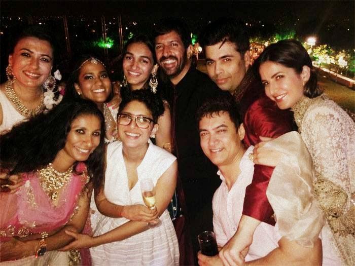 Arpita, Aamir, Katrina, Karan after wedding of Arpita Khan Sharma