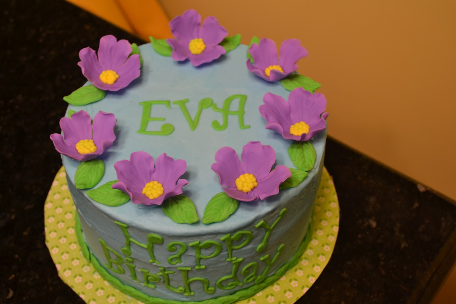 Cakes By Lala Eva S 7th Birthday Purple Flower Cake