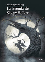 "Portada del libro ""La leyenda de Sleepy Hollow"", de Washington Irving"