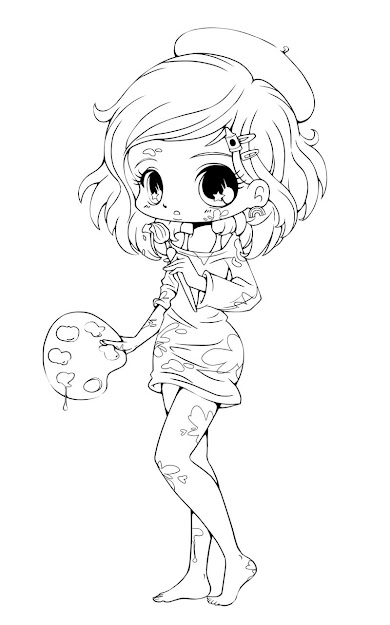 The Term Chibi Is Actually Japanese Slang For Short Person Or  Small Child Anime Food Coloring Pages