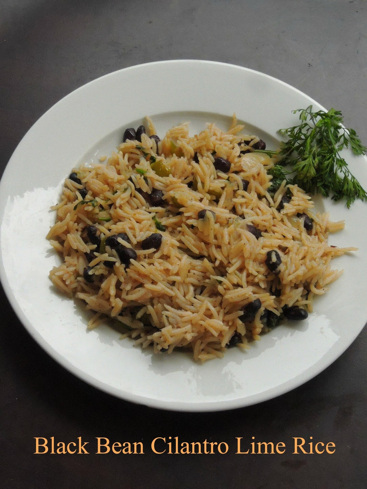 Black Bean Lime Rice with cilantro, Lime & Cilantro black bean rice