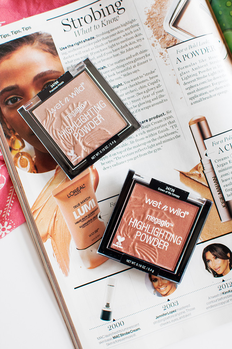 wet n wild highlighters, wet n wild summer 2016, previous petals review, crown of my canopy review, wet n wild into the wild flowers highlighters, limited edition wet n wild, drugstore highlighter