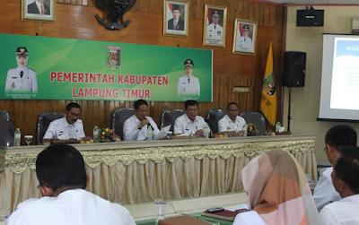 Penyerapan APBD Kabupaten Lampung Timur Tahun 2017 Baru Mencapai 51,35 Persen