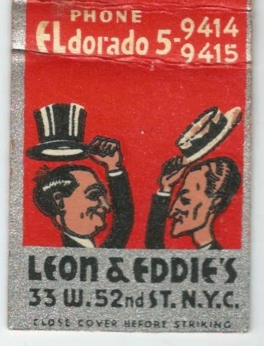 Leon & Eddie's Matchbook