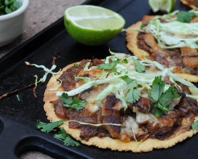 Oaxaca Tlayuda (Flat Tacos)