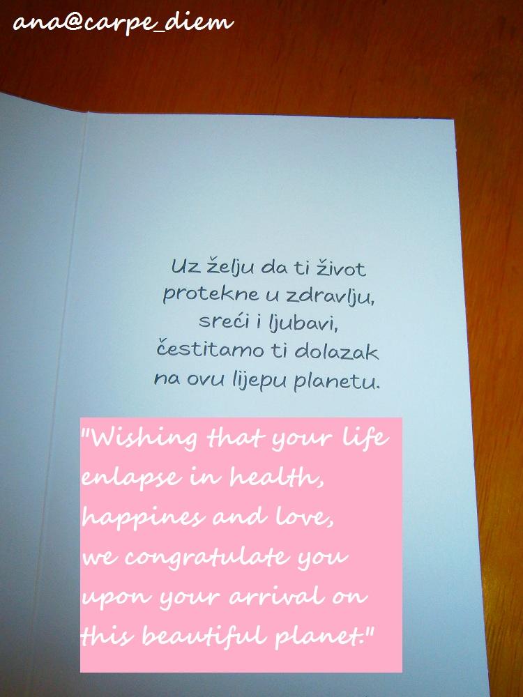 tekst čestitke za bebu Torta od pelena / Diaper cake tekst čestitke za bebu
