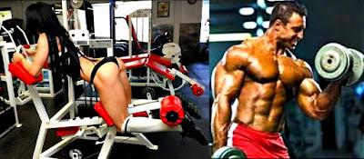 Ejercicios pesas hombre mujer gym