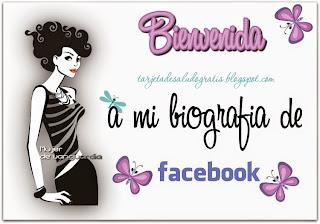 tarjeta de bienvenida para mujer facebook