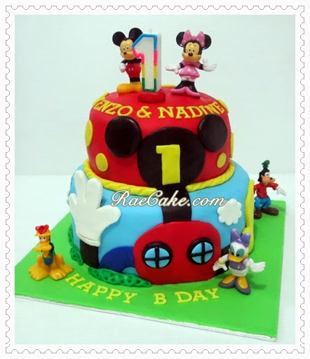 Mickey Mouse Clubhouse For Twins Kue Ulang Tahun